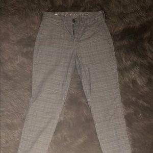 American Eagle plaid jeans